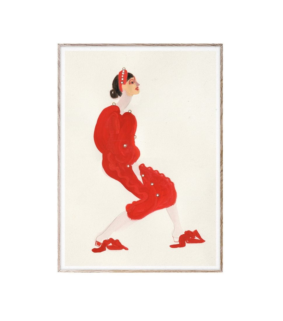 """Printas """"Red with pearls""""   Amelie Hegardt"""