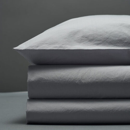 Šviesiai pilkas perkelio patalynės komplektas | Bedroommood