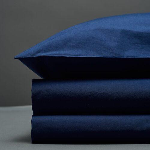 Tamsiai mėlynas perkelio patalynės komplektas | Bedroommood