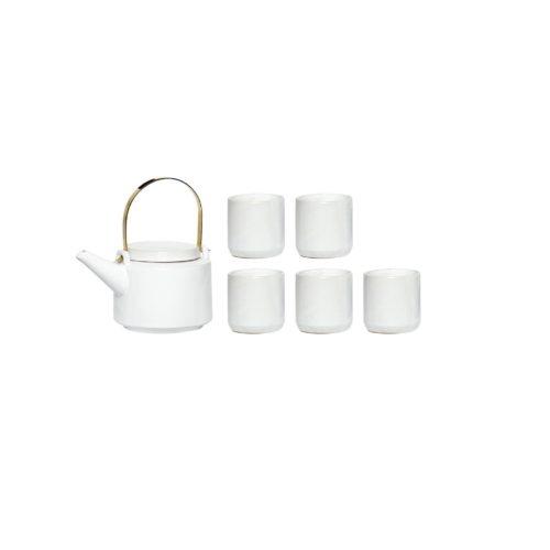 Arbatinuko ir 5 puodelių rinkinys | Hubsch