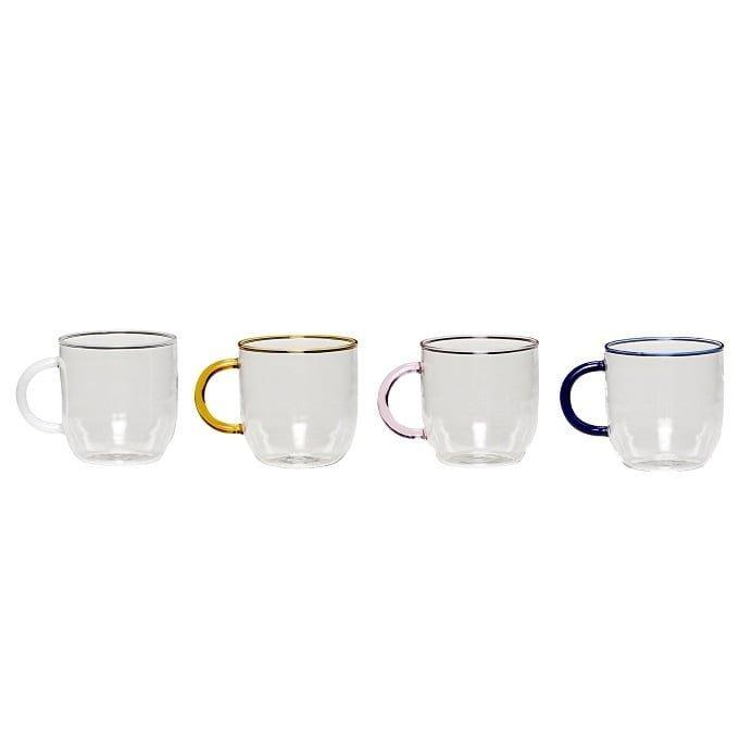 Stiklinių puodelių rinkinys | Hubsch