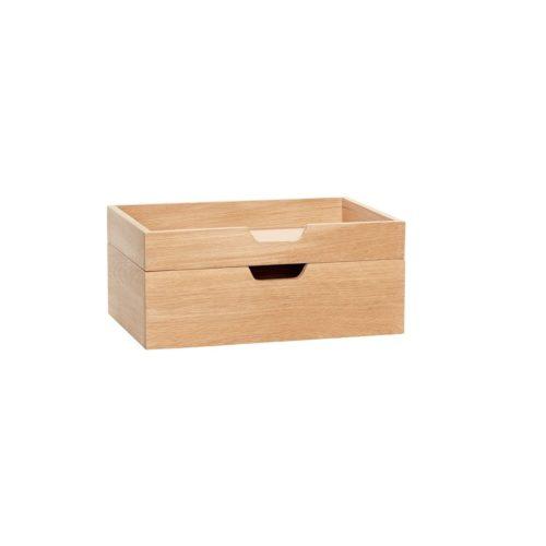 Natūralaus ąžuolo dėžutės | Hubsch