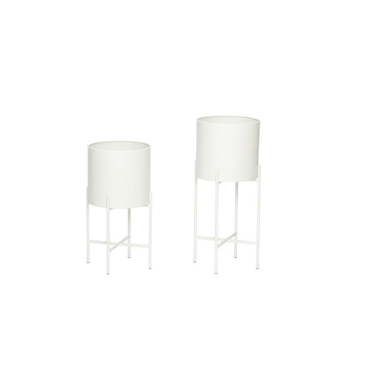 Baltas vazonų komplektas | Hubsch