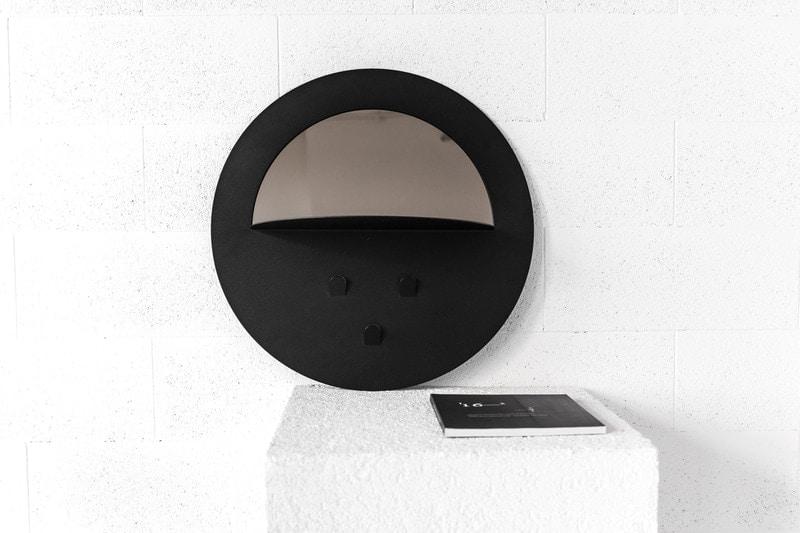 Veidrodis Round black | IDDO