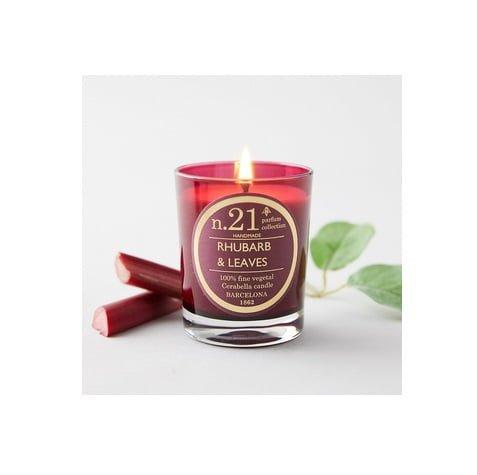 "Rankų darbo kvapni žvakė ""Rhubarb & Leaves"" | Cerabella"